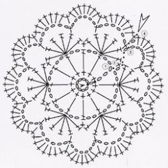 Crochet Doily Patterns With Diagram Epiphone Les Paul Coil Tap Wiring Pink Flower ⋆ Knitting Bee
