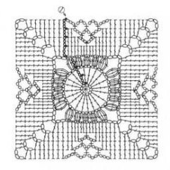Crochet Granny Square Diagram Parallel Wiring Speakers Pattern Free For You Motif Knitting Bee Rh Com Coffee Table Topper Diagrams
