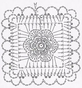 crochet granny square diagram ecobee wiring intricate knitting bee flower motif