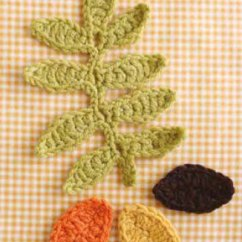 Free Leaf Crochet Pattern Diagram Home Entertainment Wiring Leaves ⋆ Knitting Bee (5 Patterns)