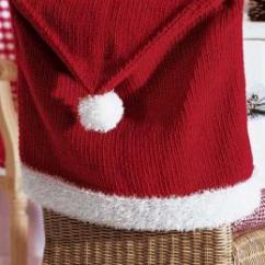 Crochet Christmas Chair Covers Boy High Chairs St Nicholas Back Cover Knitting Bee Knitted Pattern