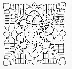 Cross-Star-Flower-Crochet-Pattern-Diagram ⋆ Knitting Bee