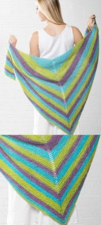10 Easy and Free Triangle Shawl Knitting Pattern ...