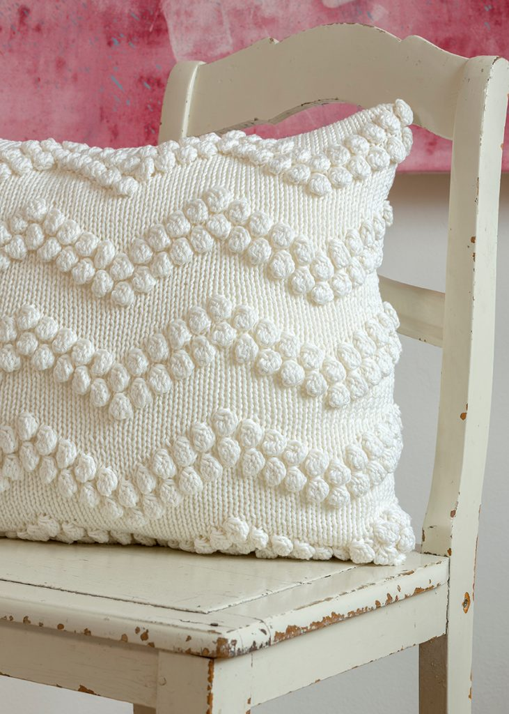 60 free pillow knitting patterns and