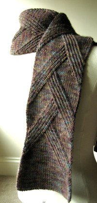3 Free Knitting Patterns for Scarves with Waves ~ Knitting