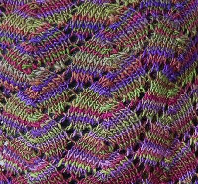 Shell Lace Knitting Stitch Pattern
