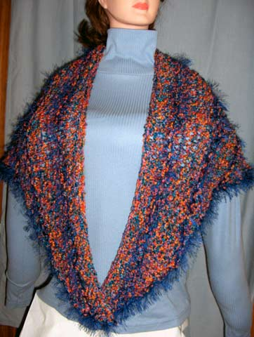 Beginner Triangle Shawl Knitting Pattern