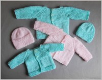 Knitting Patterns Galore - Little Babbity - Preemie Baby Sets