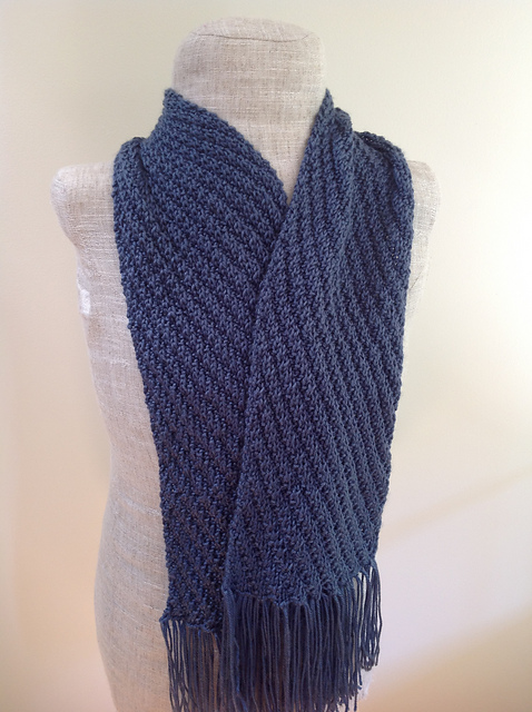 Knitting Patterns Galore  Diagonal Scarf