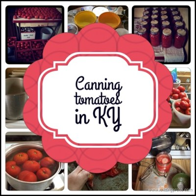 Canning tomatoes the old fashioned way…