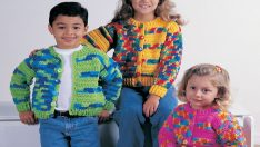 Kids love new clothes to dress up for school and this new sweater pattern