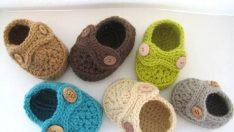 Boy's Striders Crochet Baby Booties