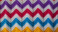 Zali Zig-Zag Crochet Chevron Blanket Tutorial