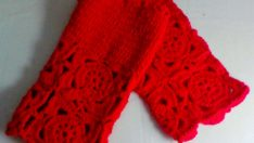 Crochet Fingerless Gloves Red Fingerless Mittens Women Clothing Accessories Gift For Her Valentine's Day Gift