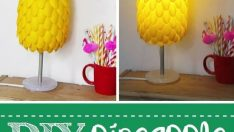 Made from Plastic Spoon pineapple shaped lampshades