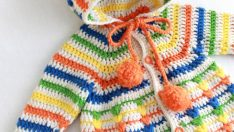 Crochet Puff Stitch How-To Video and Pattern by Maggie Weldon – Puff Stitch Baby Bunting