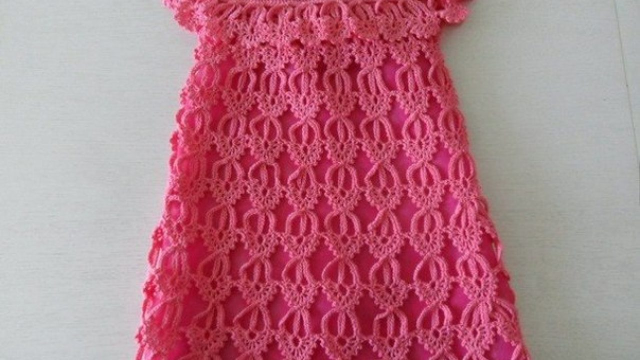 Baby dress made crochet motif scheme step by step