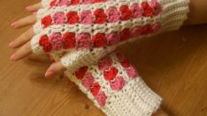 Scrap Heart Fingerless Gloves Pattern