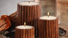 Making Candle Holders with Cinnamon Sticks