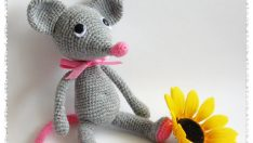 Small Mouse.Free pattern in English.