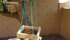 POPSICLE STICK BIRD FEEDER – DIY