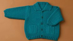 Crocheted Baby Sweaters Models