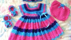 Making the Crochet Baby Dress