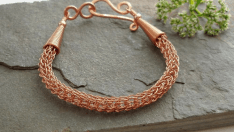 Knit Necklace Making