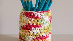 Knitted Penholder Made