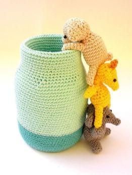 Knitted Penholder Made