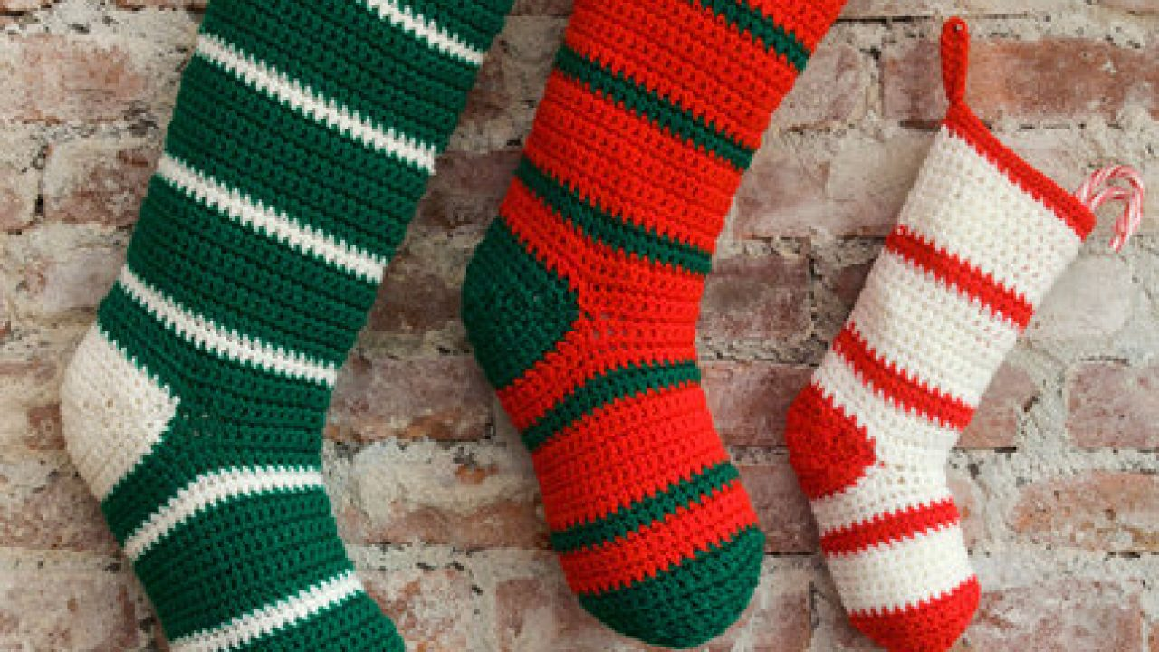 Christmas stocking crochet for gifts