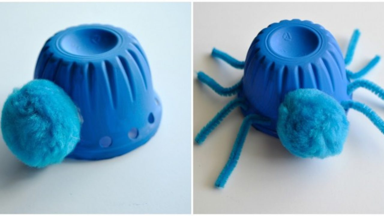 Spider Made from Plastic Cups
