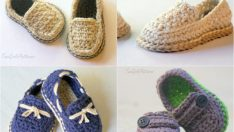 Baby Boy Booties Knitting Patterns