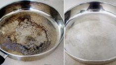 How to clean burnt saucepans?