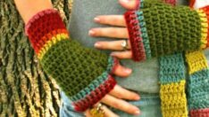Hand Knit New Gloves Models