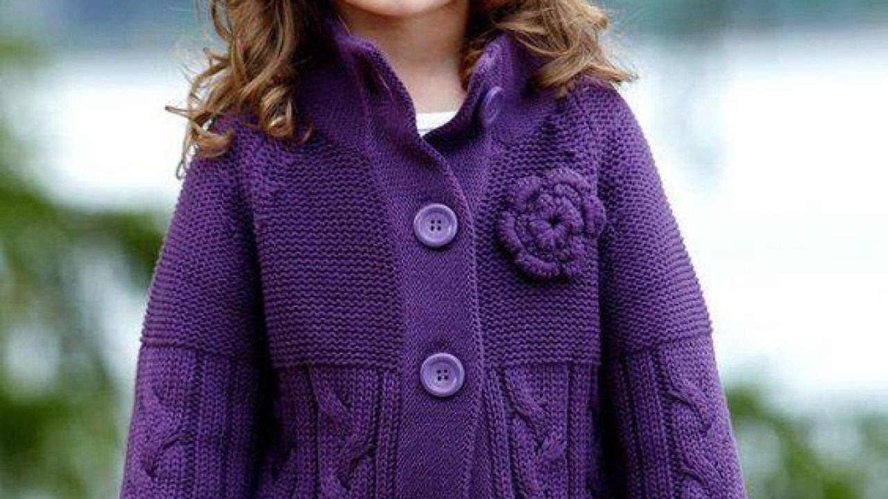Interesting Hand-Knitted Cardigans For Baby Girls
