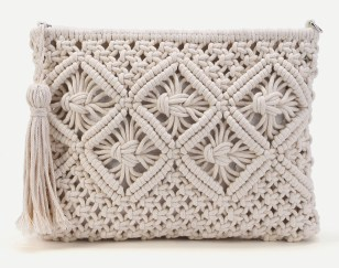Crochet Clutch Bag With Tassel (1)