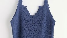 Hollow Out Crochet Lace Top