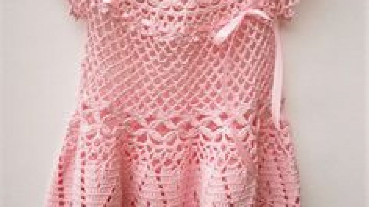 Knitted baby summer dresses