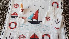 Sailor Baby Blanket Free Pattern