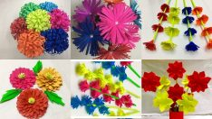 Paper flower easy to make a bouquet