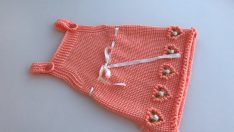 Knitting baby dress free from new pattern