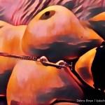 Oil-paint filter on nude photo