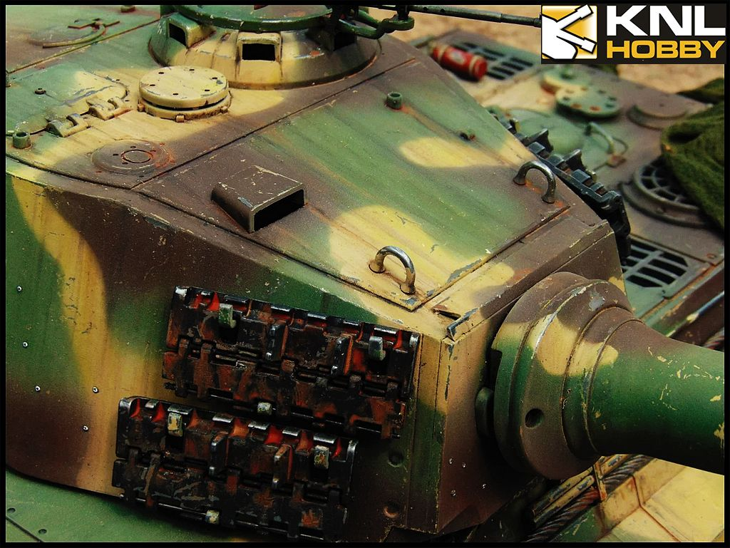 Germany King Tiger Tank Camouflage Green Coating Knl Hobby
