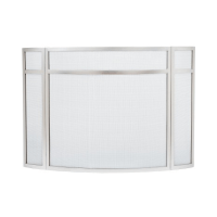 Stainless Steel Panelled Curved Folding Fireplace Screen ...