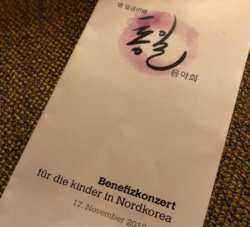 Benefizkonzert für die Kinder in Nordkorea