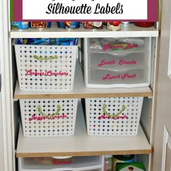 Kitchen Pantry Organization Ideas Home Depot Faucets Moen And Diy Labels Cut With A Silhouette