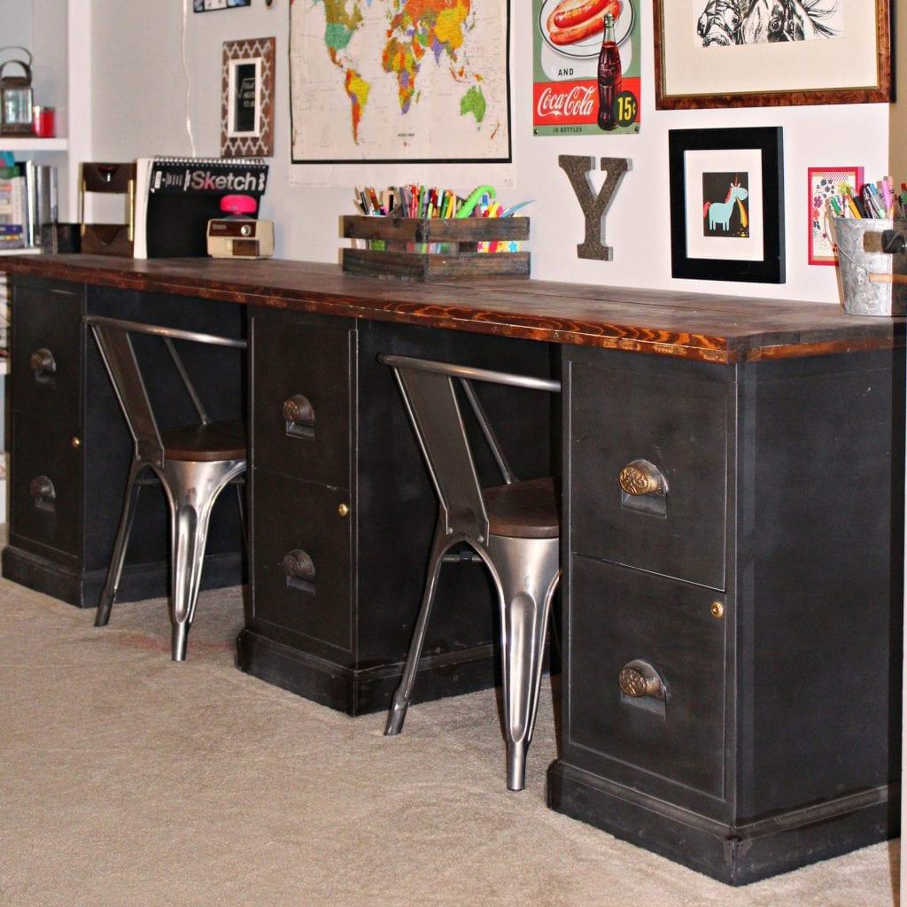 File Cabinet Desk DIY Home Office DIY Desk Repurpose Furniture