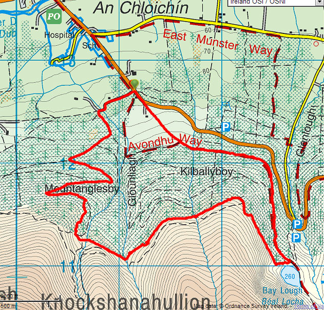 Bay Lough Walk Map