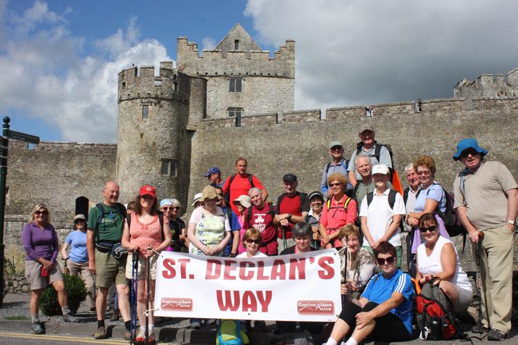 St.-Declan's-Way-Walkers-at-Cahir-Castle
